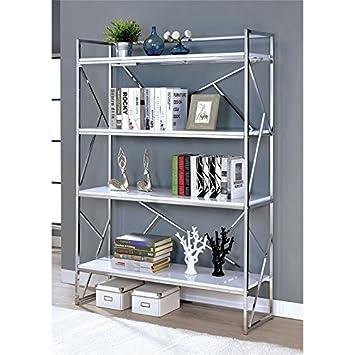timeless design 51887 33846 Amazon.com: Furniture of America Bettallo 4 Shelf Bookcase ...