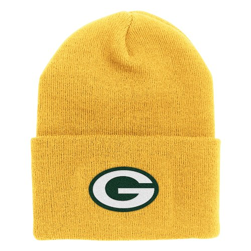 - NFL End Zone Cuffed Knit Hat - K010Z, Green Bay Packers, One Size Fits All