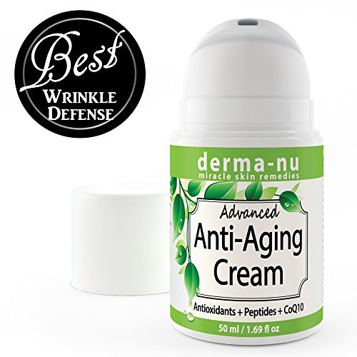 Moisturizer Derma Hydrating (Anti Aging Cream & Daily Moisturizer for Face Enriched with Collagen Boosting Peptides, Hyaluronic Acid & Organic Aloe. Facial Wrinkle & Fine Line Reducer. Hydrating, Skin Tightening All Natural 50ml)