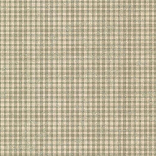 - Chesapeake CCB44016 Gingham Check Wallpaper, Green