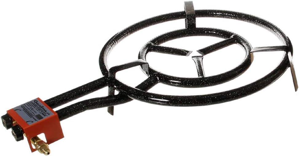 Garcima 5020089 Paellero Gas Butano 500 mm, Negro, 50x75.5x11.5 cm