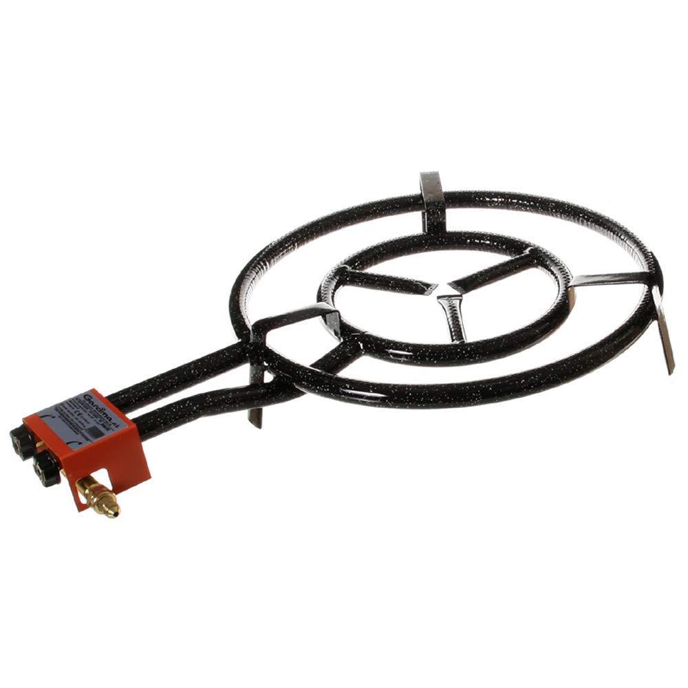 Garcima Paella Dual Ring Butane//Propane Gas Burner Black 50 cm