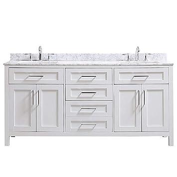 Ove Decors Tahoe 72w Marble Top Bathroom Double Sink Vanity 72 Inch