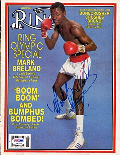 Ring Boxing Magazine - Mark Breland Autographed The Ring Magazine Cover #S47333 - PSA/DNA Certified - Autographed Boxing Magazines