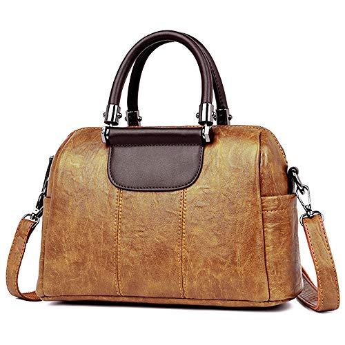- Top Handle Handbag for Women - Vegan Leather Ladies Shoulder Bag