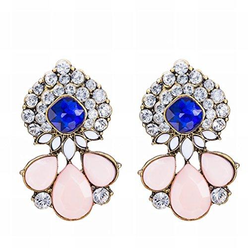 MOMO Mode Diamants en Alliage Rétro Boucles D'oreilles Ladies / Stainless Steel / Anti-allergic / Silver Flashing / Diamond / Small Exquisite / Crystal Transparent