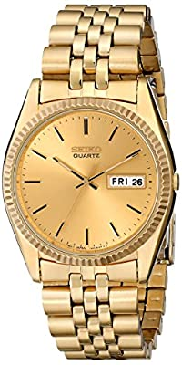 Seiko Men's SGF206 Gold-Tone Stainless Steel Dress Watch by Seiko
