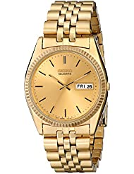 Seiko Mens SGF206 Gold-Tone Stainless Steel Dress Watch