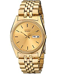 Mens SGF206 Gold-Tone Stainless Steel Dress Watch