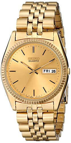 (Seiko Men's SGF206 Gold-Tone Stainless Steel Dress Watch)