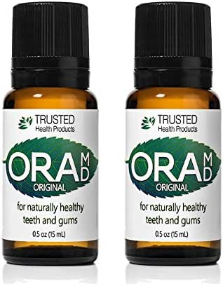 OraMD Dentist Recommended Original Toothpaste and Mouthwash Alternative for Healthy Gums & Teeth Mouthwash Breath Freshener for Bad Breath Halitosis- (15mL) Two Bottle