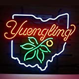"HOT Eagle 17""x 14"" YUENGLING OHIO STATE BUCKEYE LARGER Real Glass Beer Bar Pub Shop Neon Light Signs for Home Shop Store Beer Bar Pub Restaurant Billiards Shops Display Signboards"