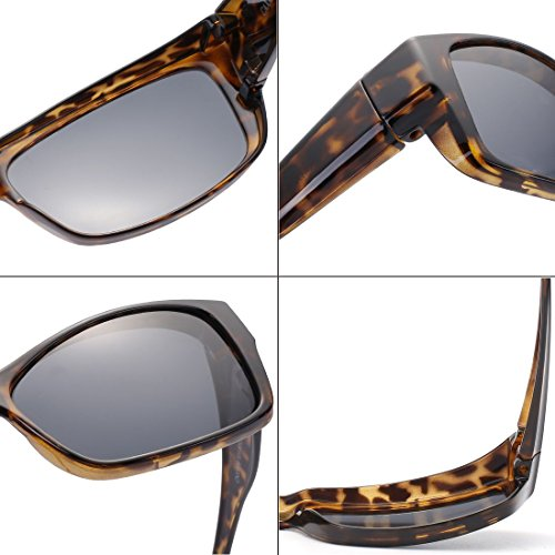 CAXMAN Polarized Fit Over Glasses Sunglasses for Prescription Glasses, Small Size, Tortoise Shell Frame with Grey Lens, 100% UV Protection by CAXMAN (Image #4)