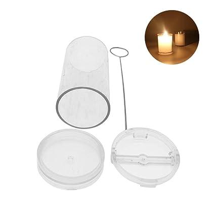 Molde de cera para velas hecho a mano en forma de cilindro, molde de velas