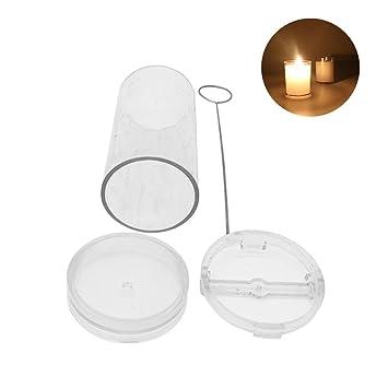 Auker - Kit de fabricación de Velas para Hacer Velas, moldes para Hacer Velas cilíndricas