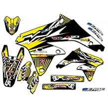 Senge Graphics 2001-2014 Suzuki RM 125/250, Mayhem Yellow Graphics Kit