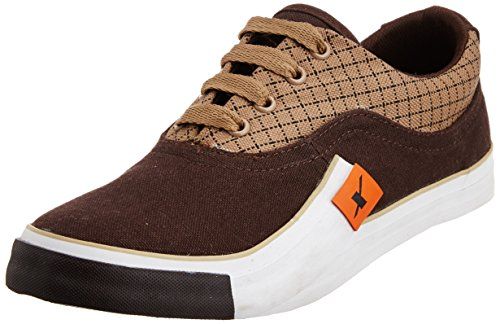 Sparx Men's Camel Canvas Sneakers – 9 UK (SC0198G)