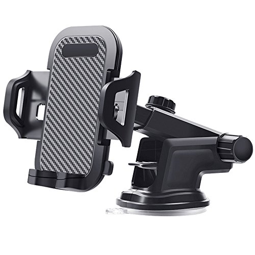 eyexiaotong Upgrade Dashboard Car Phone Mount,Adjustable Windshield Holder Cradle with Strong Sticky X/8/8Plus/7/7Plus/6s/6P/5S, Galaxy S5/S6/S7/S8, Google, Huawei etc