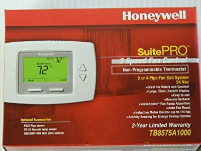 Honeywell TB8575A1000 SuitePro Fan Coil Thermostat - 24V - 2/4 Pipe