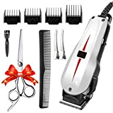Facial Hair Styles Bald Head - Rantizon Mains Hair Clipper Set Professional Hair Cutting Kit for Men Skin-Friendly Blades Electric Hair Cutting Machine Precision Trimmer Multi Grooming Barber Kit with Attachments Free Gift Scissors