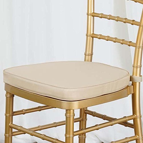 Tableclothsfactory GOLD Chiavari Chair Cushion for Wood Resin Chiavari Chairs Party Event Decoration - 2'' Thick--PACK OF 5