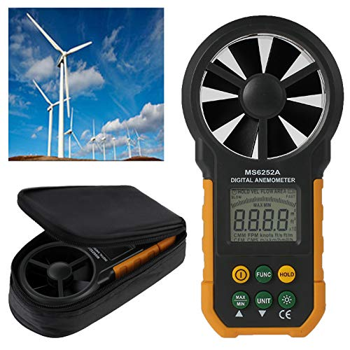 CAMWAY 6252A LCD Digital Anemometer Wind Speed Meter Anemometer Air Volume Measure by CAMWAY