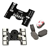 quad copter with fpv - H Type Tail Light Loud Buzzer Matek ( Dual Control FC Flight Controller & TX Transmitter Control Mode,8 WS2812B LEDS)+ 4pcs Sponge Mat Landing Pad Gear for FPV Drone Quadcopter