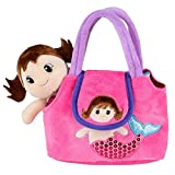Neliblu My First Doll Purse - Pretend Play Mermaid Adventure Playset for Little Girls - with Handbag and Mermaid Doll