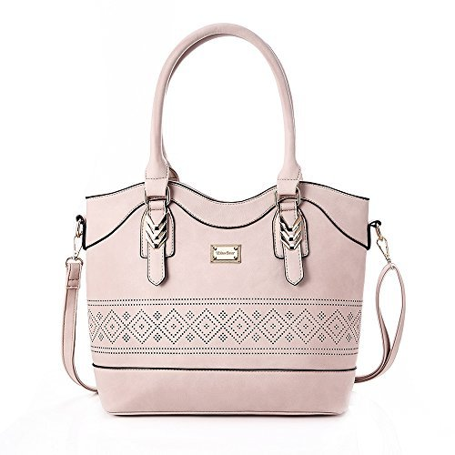 YsinoBear Top-Handle Bags Fashion Shoulder Bags Ladies Women's Handbags Tote Large Capacity Bags (Pink)
