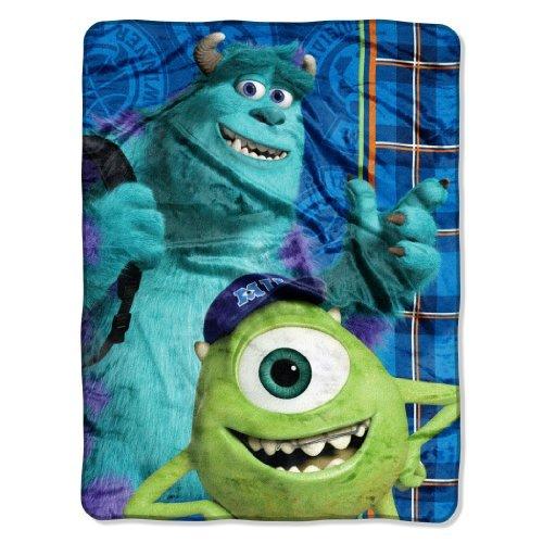 The Northwest Company Disney's Monsters University, Greek Geeks Micro Raschel Blanket, 46 by 60-Inch