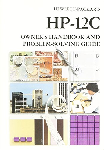 Hewlett Packard Hp 12c Owners Handbook (Owners Handbook for sale  Delivered anywhere in USA
