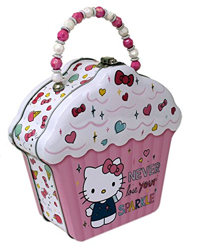 The Tin Box Company Hello Kitty Cupcake Shape Tin Purse Carry All