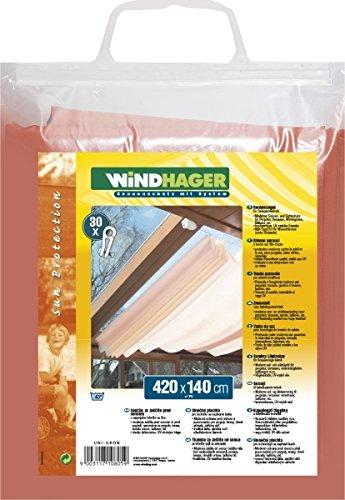 Windhager Sonnensegel für Seilspanntechnik, Terracotta, 420 x 140 cm