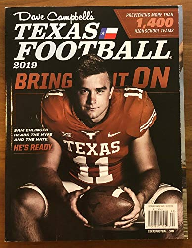 (Dave Campbell's Texas Football Sam Ehlinger Bring It On Magazine 2019)