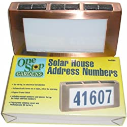 Solar House Address Number Light