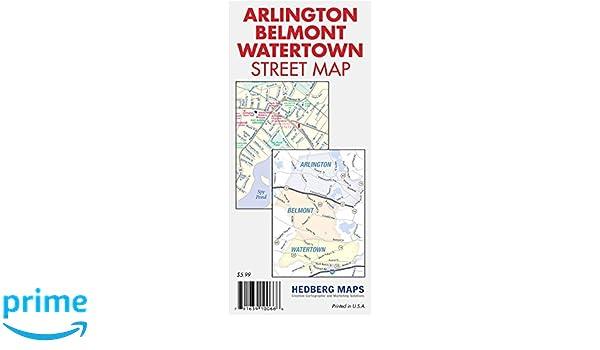 Arlington, Belmont, Watertown, (MA) Street Map: Hedberg Maps Inc ...