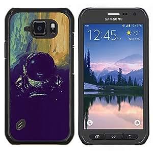 TECHCASE---Cubierta de la caja de protección para la piel dura ** Samsung Galaxy S6 Active G890A ** --devushka kosmos SHLEM