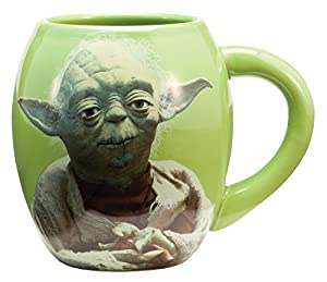 Star Wars Yoda 18 oz Oval Green Ceramic Mug