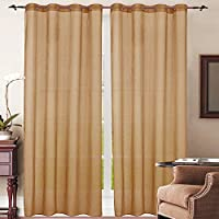 Simple Elegance New York Sheer Window Curtain (Brown)