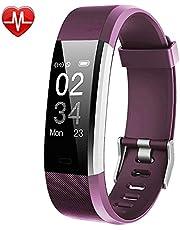 Willful Fitness Armband mit Pulsmesser,Wasserdicht IP67 Fitness Tracker Aktivitätstracker Pulsuhren Schrittzähler Uhr mit 14 Trainingsmodi Anruf SMS Whatsapp Beachten für iPhone Android Handy
