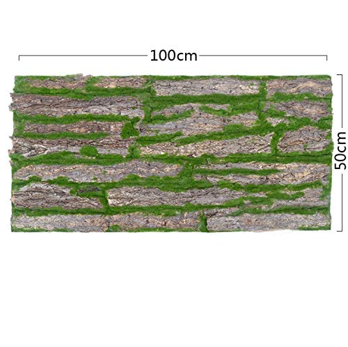Global footprint High Simulation Real Touch Artificial Tree bark with Moss for Sale Artificial Moss Rocks Decorative Faux Green Moss Covered Stones 5 2pcs by Global footprint