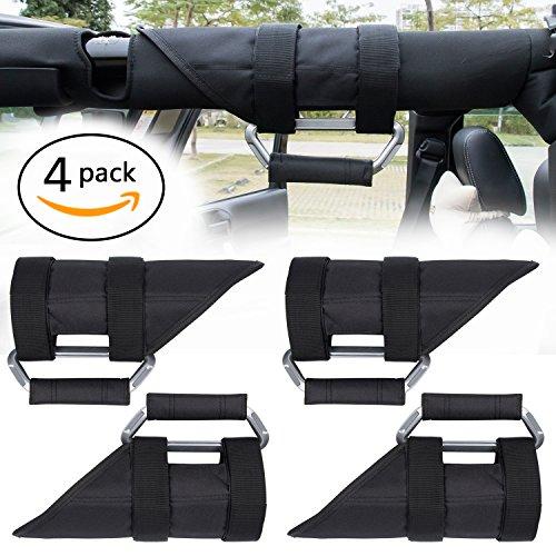 Danti Upgrade Aluminum Grab Handles Roll Bars for Jeep wrangler TJ JK TL JKU Sports/ Sahara/ Freedom/ Rubicon X Unlimited X - Sports Tl
