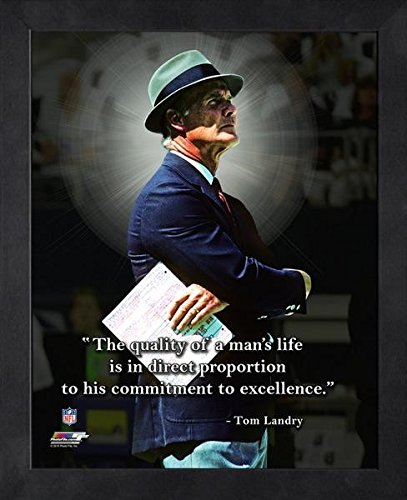 Tom Landry Dallas Cowboys ProQuotes Photo (Size: 9