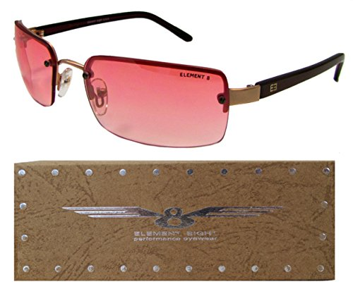 E8 Element Eight Metal Wire Frame Sunglasses Rimless – Burgundy Frame – Gradient Pink - Eight Element