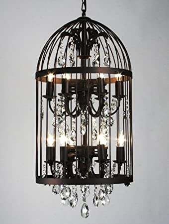 Amazon zentique vintage birdcage chandelier large home kitchen aloadofball