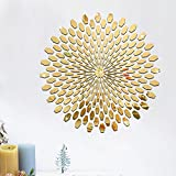 225Pcs Mirror Tile Wall Sticker 3D Decal Mosaic Room Decor Stick On Modern Art -Gold