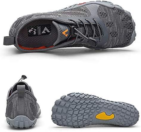 男性と女性のウォーターシューズサーフィンビーチスイミングシュノーケリングと速乾性排水通気性のソフトで軽量な伸縮性のあるバンドカップルアップストリームハイキングアウトドアスポーツやレジャー中立靴 ポータブル (色 : Gray, Size : US7.5)