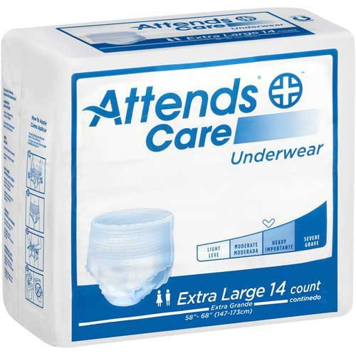 Attends Heavy Absorbency Protective Underwear, XL, Case of 5.