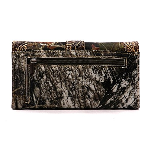 Wallet Coffee Mo Womens Buckle Trifold Western A Realtree Camouflage Brown Checkbook xwB6HgTq