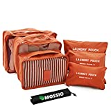 Travel Accessories,Mossio Luggage Organizer 7 Piece Compression Pouch Orange